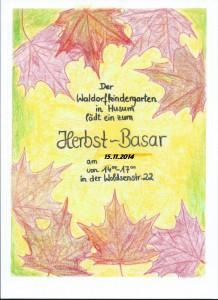 Plakat Herbstbasar mit datum